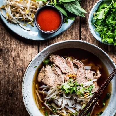 Pho Bo - Beef Noodle Soup (Large)